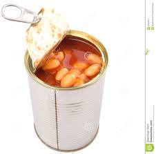 Baked Beans In Open Lid Tin Can IV