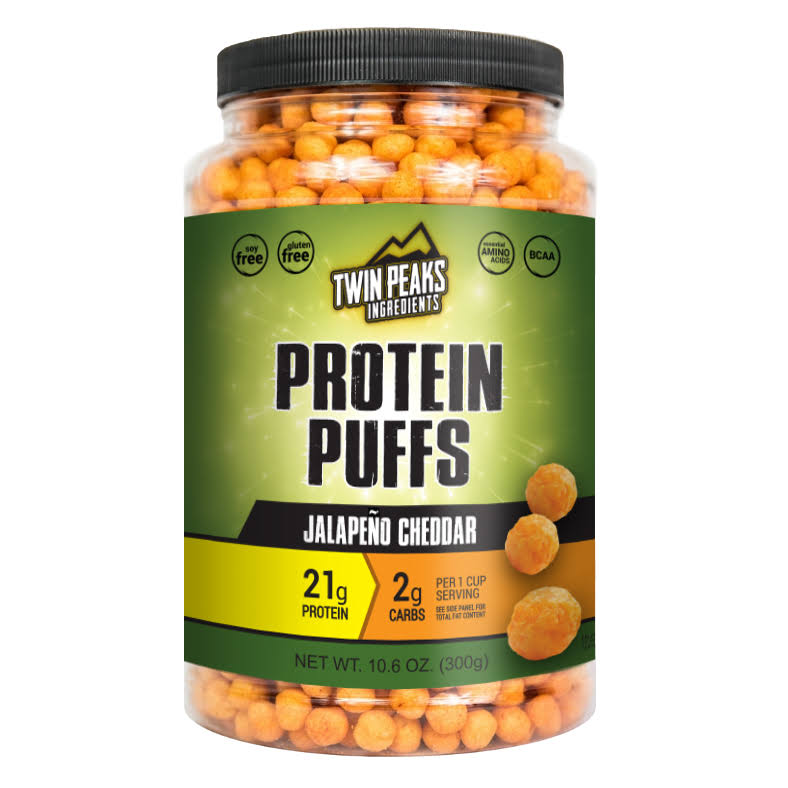 Twin Peaks Ingredients Protein Puffs Jalapeno Cheddar - 10.6 oz