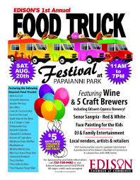 Edison's 1st Annual Food Truck Festival   TAPinto Friday Night Bites Is Bring A World Of Flavor To Cypress On March Bridgeland Twitter The Countdown Just Five More Days Mollys Eats And Drift Food Truck Meals Wheels The Max Tri Tip Man Good Stuff Happening Tonight In New Regulations For Food Truck Vending Santa Ana May Finally Move Lifestyle Magazine Jacksonville Florida Jax Beach Restaurant Attorney Bank Hospital Bear Creek Church A Urch Katy West Houston Falacos Trucks Roaming Hunger Jacksonville Schedule Finder