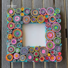 Upcycled Rolled Paper Frame