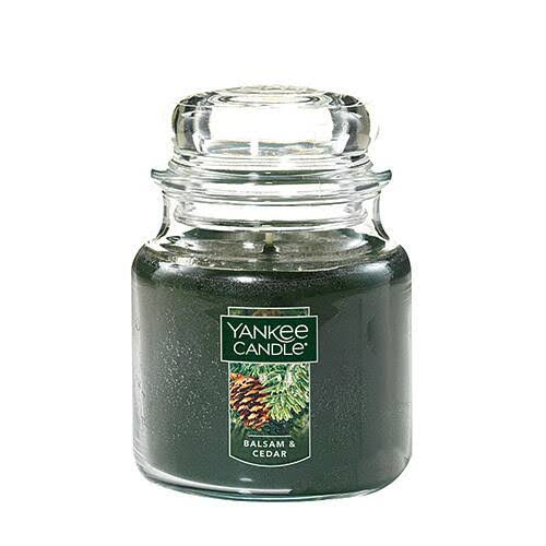 Yankee Candles Candle Jar - Balsam & Cedar, Medium, 14.5oz