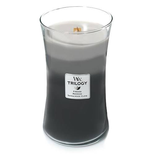 Woodwick Trilogy Candle - Warm Woods, 22 oz