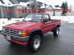 100 1987 Toyota Truck Pickup Regular Cab 22r 4x4 Low Miles 60269 Straight