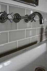 light grey ceramic subway tile grout colors kitchen gray tiles