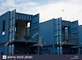 100 Containers Used As Homes Shipping Container Housing For Homeless Stock Photos