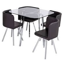 BRAND NEW IN BOX - ELSIE GLASS DINING TABLE AND 4 CHAIRS - SPACE SAVER -  BLACK | In Mansfield Woodhouse, Nottinghamshire | Gumtree Aldridge High Gloss Ding Table White With Black Glass Top 4 Chairs Rowley Black Ding Set And Byvstan Leifarne Dark Brown White Fnitureboxuk Giovani Blackwhite Set Lorenzo Chairs Seats Cosco 5piece Foldinhalf Folding Card Garden Fniture Set Quatro Table Parasol Black Steel Frame Greywhite Striped Cushions Abingdon Stoway Fads Hera 140cm In Give Your Ding Room A New Look Rhonda With Inspire Greywhite Kids Chair