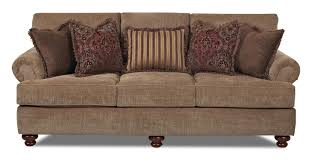Klaussner Greenvale Traditional Stationary Sofa with Rolled Arms