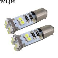wljh 2pcs canbus led ba9s h6w 12v 3528 smd car light bulb parking