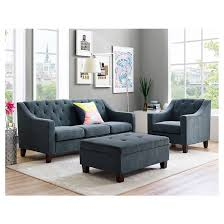 Tufted Sofa And Loveseat by Felton Tufted Sofa Navy Threshold Target