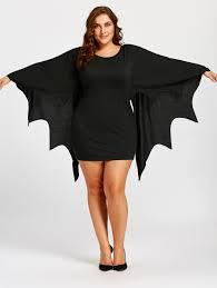 plus size tunic bat wings dress black xl in plus size dresses