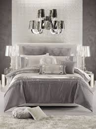 Glamorous Bedroom In White Silver And Shades Of Grey