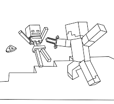 Coloring Page Minecraft Video Games 4