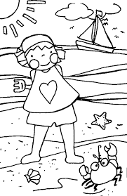 Summer Holiday Coloring Pages Printable For Preschoolers