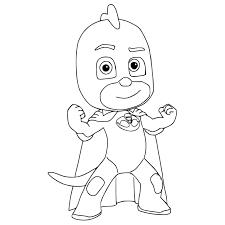 Brave Gekko PJ Masks Coloring Page
