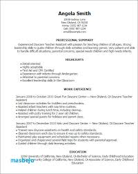 Early Childhood Resume Examples 41 Best Sample For Preschool Teacher Assistant