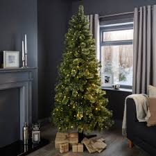 8ft Christmas Trees Artificial Ireland by 6ft 6in Pemberton Pre Lit Christmas Tree Departments Diy At B U0026q