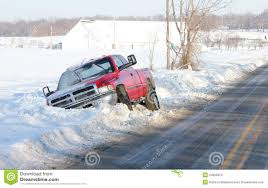 Truck Stuck In Snowbank Or Ditch Stock Photo 24262024 - Megapixl