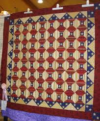 FABRIC THERAPY Patriotic Courthouse Steps At The Sauder Village Quilt Show Victory Garden Pattern By Jo Morton