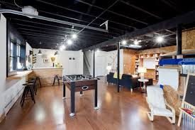 Exposed Basement Ceiling Lighting Ideas by Dillon Industrial Basement New York By The Cousins