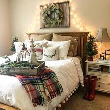 Farmhouse Christmas Bedroom Ideas Bedding Rustic Style Holiday Decorating