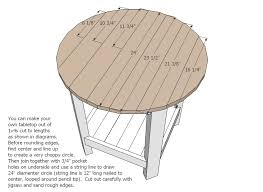 ana white benchright round end tables diy projects