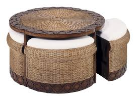 Patio Furniture With Hidden Ottoman by Round Table With Hidden Stools Classic Rattan Accent Furniture 6959