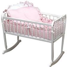 Amazon Baby Doll Bedding Pretty Pique Cradle Set Pink