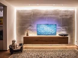 indirekte beleuchtung für tv wand contemporary home