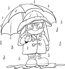 Weather Coloring Pages Rain
