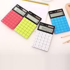fonction le de poche creative mode portable avec diamant 12 chiffres calculatrice de