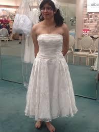david u0027s bridal short printed organza gown with floral sash