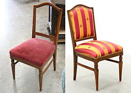 Before And After Furniture Repair Gallery Carrocel Dining Chair Upholstery Fabric Ideas