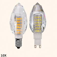 10x g9 5w smd2835 led daylight white 5000k light led corn