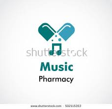 Pharmacy Music Of Medicine Abstract Vector And Logo Design Or Template Clinic Business Icon Company