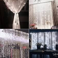 Icicle Lights In Bedroom by Amazon Com String Lights Curtain 300 Led Icicle Wall Lights