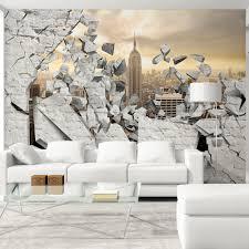fototapete selbstklebend 3d effekt 343x256 cm tapete wandtapete wandbilder klebefolie dekofolie tapetenfolie wand dekoration wohnzimmer ziegel