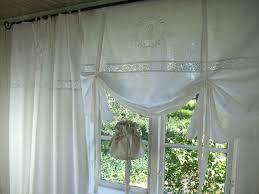 lillabelle weiß gardine vorhang monogramm shabby