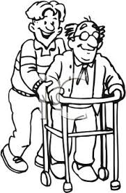 helping others clipart black and white 4