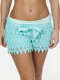new womens ladies layered lace vintage pants summer shorts