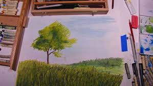 Types Of Christmas Trees Oil And Gas by How To Draw A Tree In Oil Pastel Youtube