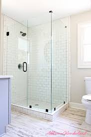 lakehouse bathroom gray cabinet white subway tile 5 s