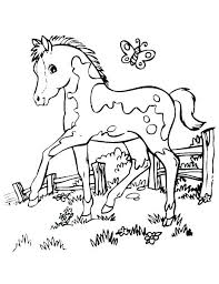 Free Horse Coloring Pages Printable Q4094 Realistic Jumping Inside