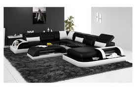 canapé noir et blanc canapé d angle panoramique en cuir italien max