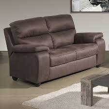 canapé de relaxation 2 places canapé relax electrique 2 places marron en tissu sofamobili