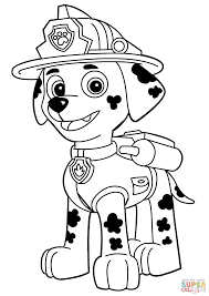 Click The Paw Patrol Marshall Coloring Pages To View Printable Version Or Color It Online Compatible With IPad And Android Tablets