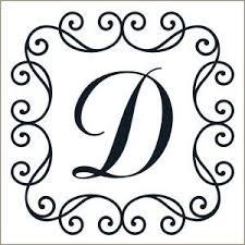 Scroll Framed Monogram Letter D La lettre D Pinterest