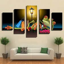 toile chambre sans cadre tableau set imagination illustration 5 panneau toile