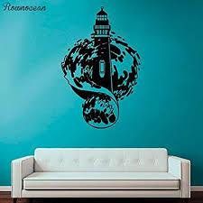 alicefen leuchtturm vinyl wand maritime wandgestaltung