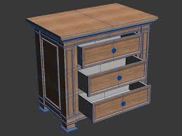 schlafzimmer kommode schmal 3d modell 13 obj max free3d