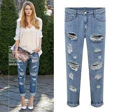 Ripped Up Jeans For Women
